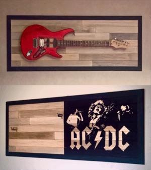 Guisplay Custom shop Guitar Display Cabinet case showcase stand wall hanger