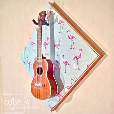 FLAMINGO Support Ukulele Wall Hanger Stand3(watermarked)