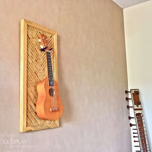 Guisplay Tiki 2 Support Ukulele Display and Wall Art Framed Creation9(watermarked)