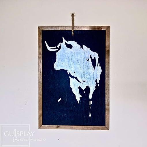 Guisplay Bull Ardoise Slate Framed Wall Art Creations4