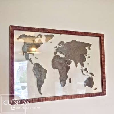 GUISPLAY World map planisphere Wall Art creations 1(watermarked)