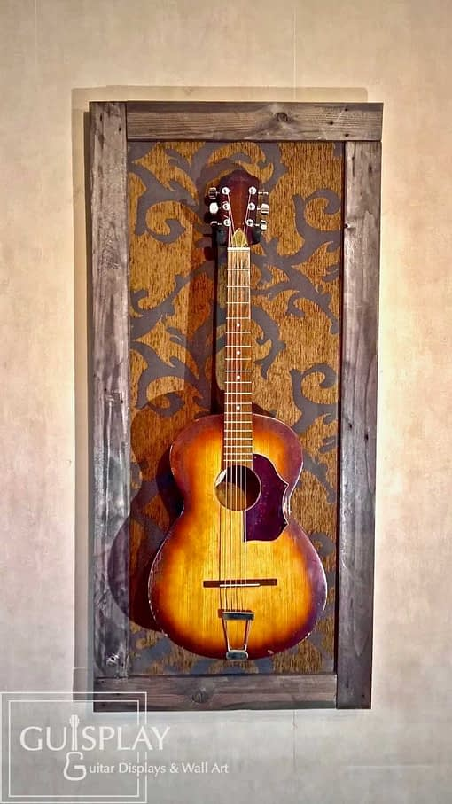OLD FLOWER Guitar Wall Hanger Stand Display12(watermarked)