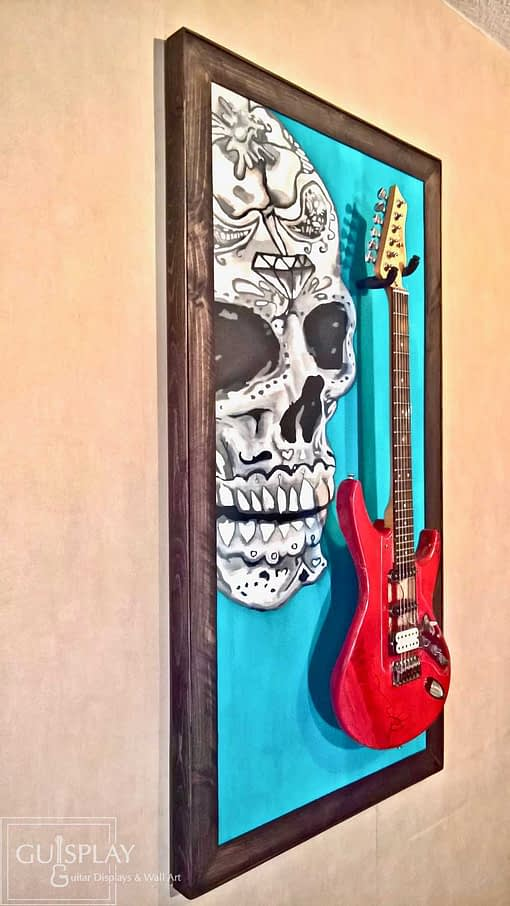 Mexican Skull Guitar Hanger Stand 13(watermarked)