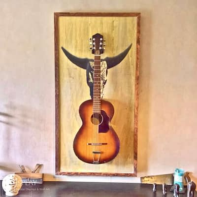Guitar Display Wall Hanger Guisplay Wall Hanger Guitar Display Stand Cow Western 4(watermarked)