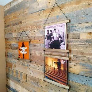 Lp record wall hanger display Vinyl handcraft handmade by Guisplay53