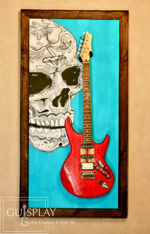 Mexican Skull Guitar Hanger Stand 2(watermarked)